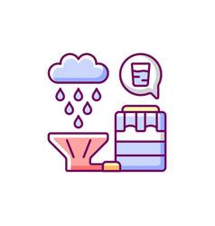 Recycling rainwater rgb color icon vector