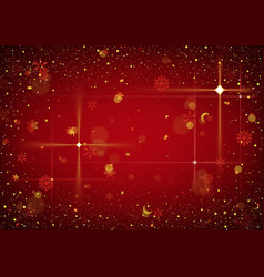 red abstract christmas background vector image