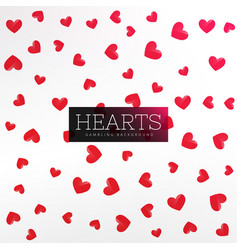 Red hearts pattern background vector