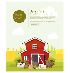 Rural landscape and farm animal background 2 vector