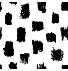 Seamless brush strokes pattern vector