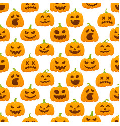 Seamless pattern with orange halloween pattern vector