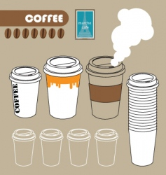 Series of paper coffee cup vector
