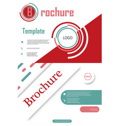 Set of brochure cover brochure with color vector