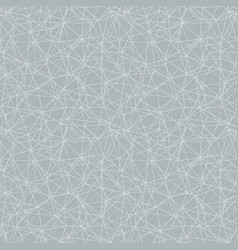 silver grey network web texture seamless pattern vector image