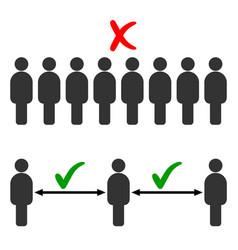 social distancing keep a safe distance vector image