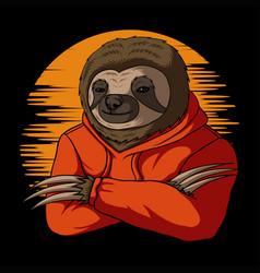 Stylish sloth vector