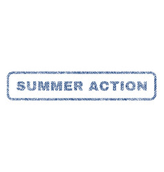 Summer action textile stamp vector