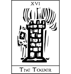 Tower Tarot Card vector