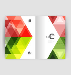 triangle print template vector image