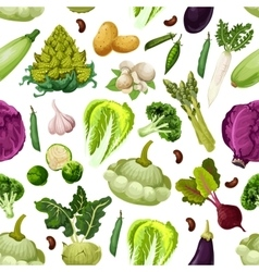 Vegetables vegetarian seamless pattern vector