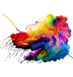 Watercolor colorful cloud vector