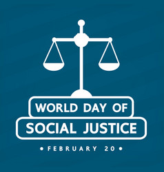 World social justice day vector