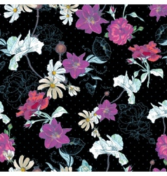 Beautiful Seamless Vintage Floral Background vector image vector image