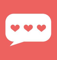 Hearts in speech bubble icon vector