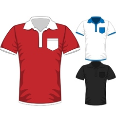 Mens short sleeve t-shirt polo design vector image
