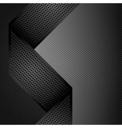 metallic ribbons on gray corduroy background vector image vector image