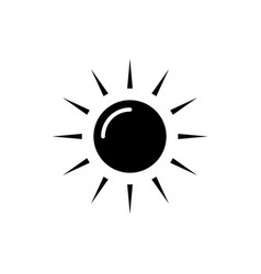 sun icon black sign on vector image vector image