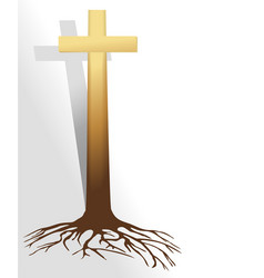 abstract christian cross vector image