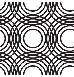 Abstract geometric circles seamless pattern vector image