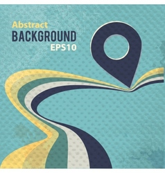 Abstract retro background with stripes and pin vector image