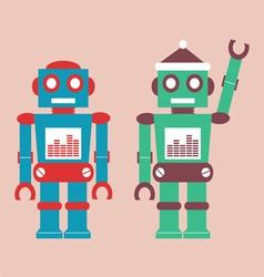 cute vintage robot vector image vector image