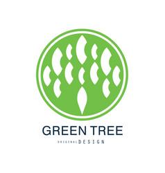 green tree logo original design green eco and bio vector image