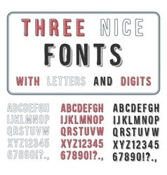 Hand Drawn Font Set Handwriting Alphabet ABC with vector image vector image