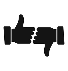 Hands showing thumbs up and down vector image
