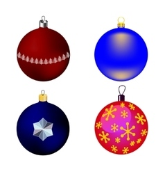 Images four christmas-tree toys vector