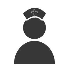 Isolated avatar nurse graphic vector