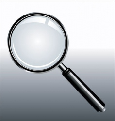 realistic magnifying vector image vector image