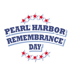 USA Pearl Harbor Remembrance Day logo vector image