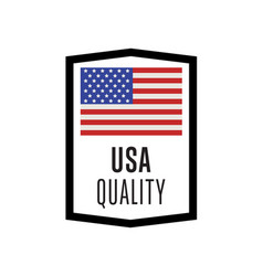 usa quality isolated label for products vector image vector image