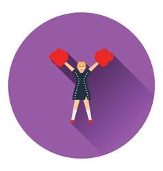 American football cheerleader girl icon vector image