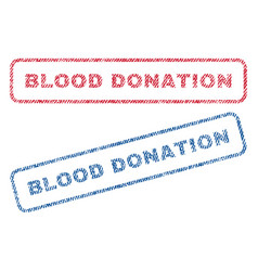 blood donation textile stamps vector image vector image