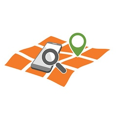 mobile geo location searching vector image