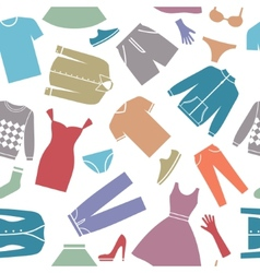 Seamless background with clothes vector image