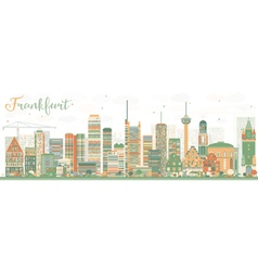 Abstract Frankfurt Skyline with Color Buildings vector image vector image