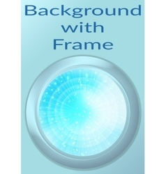 Porthole with Abstract Background vector image vector image