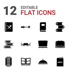12 cover icons vector image