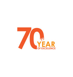 70 year excellence template design vector image