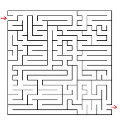 Abstract square maze an interesting game vector