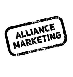 Alliance marketing advertising sticker vector