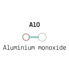 AlO aluminium monoxid molecule vector image