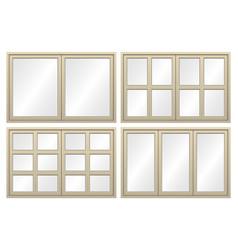 Aluminium window set vector