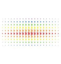 antenna spectrum halftone matrix vector image