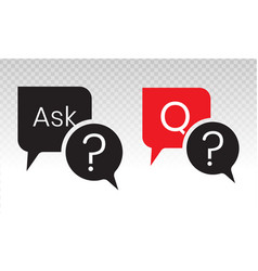 Ask a question or make a request flat icon vector