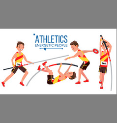 athletics player male athletic sport vector image