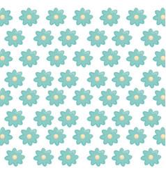 beautiful flowers decorative pattern vector image